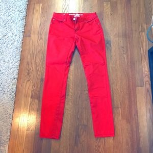 NWOT - Mossimo red skinny jeans - Size 7